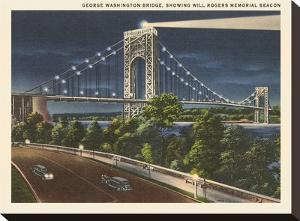 George Washington Bridge Hudson River by Found Image Press