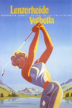 Golfing in Switzerland by Found Image Press