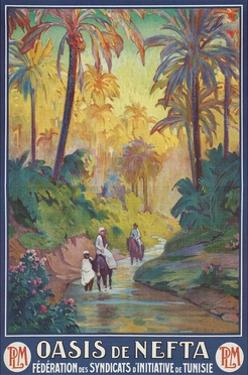 Nefta Oasis, Tunisia, Travel Poster by Found Image Press