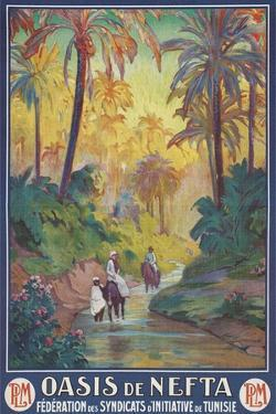 Nefta Oasis, Tunisia, Travel Poster by Found Image Press