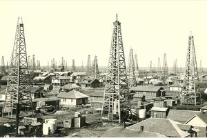 Oil Boom Town by Found Image Press