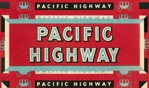 Pacific Highway Sign by Found Image Press