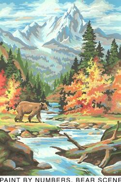 Paint by Numbers, Bear Scene by Found Image Press