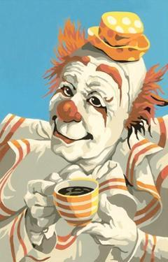 Paint by Numbers Coffee Clown by Found Image Press