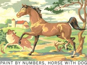 Paint by Numbers, Horse with Dog by Found Image Press