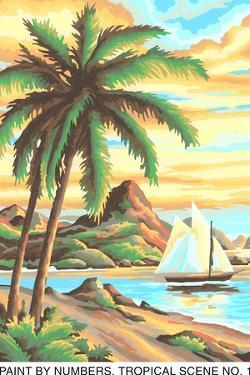 Paint by Numbers, Tropical Scene Number One by Found Image Press