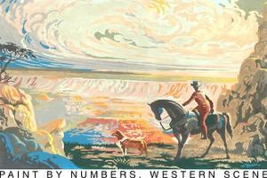 Paint by Numbers, Western Scene by Found Image Press