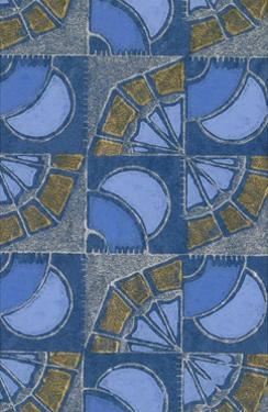 Patterned Squares of Blue and Gray by Found Image Press