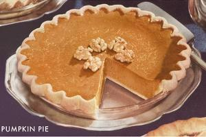 Pumpkin Pie with Walnuts by Found Image Press
