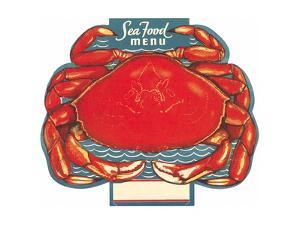 Seafood Menu, Crab by Found Image Press