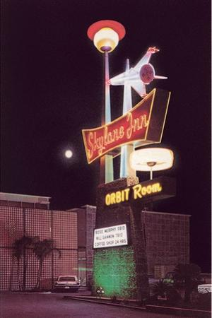 Skyline Inn, Motel Sign by Found Image Press