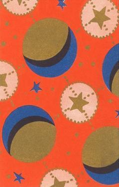 Stars and Moon, Abstract Pattern by Found Image Press