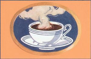 Steaming Cup of Coffee by Found Image Press