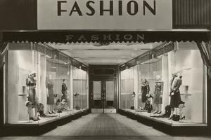 Storefront with Women's Fashions by Found Image Press
