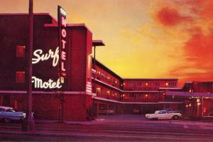 Surf Motel at Sunset by Found Image Press