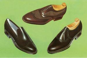 Three Men's Shoes by Found Image Press