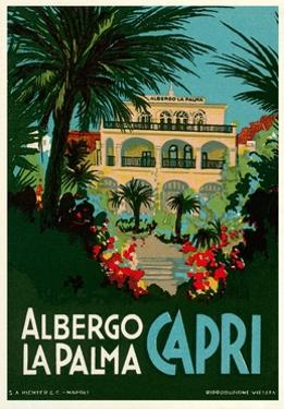 Travel Poster for Capri, Italy by Found Image Press