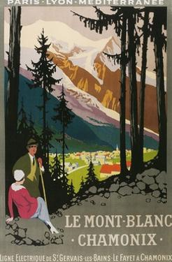 Travel Poster for Chamonix by Found Image Press