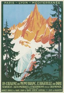 Travel Poster for French Alps by Found Image Press