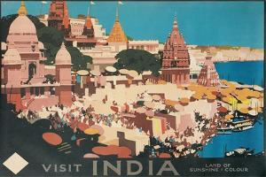 Travel Poster for India by Found Image Press