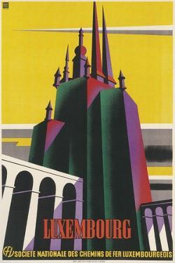 Travel Poster for Luxembourg by Found Image Press