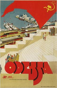 Travel Poster for Odessa, USSR by Found Image Press