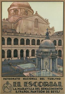 Travel Poster for the Escorial, Spain by Found Image Press