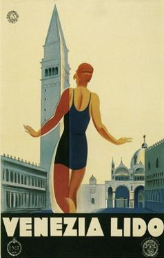 Travel Poster for the Lido, Venice, Italy by Found Image Press