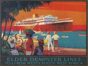 Travel Poster, West and Southwest Africa by Found Image Press