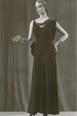 Twenties Female Mannequin in Dark Evening Gown by Found Image Press