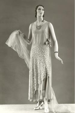Twenties Female Mannequin in Evening Wear by Found Image Press