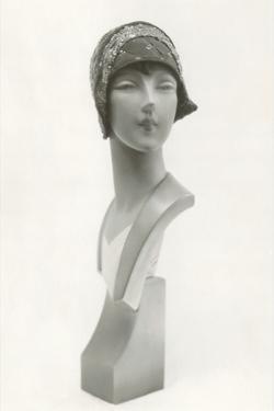 Twenties Mannequin Bust in Cloche Hat by Found Image Press