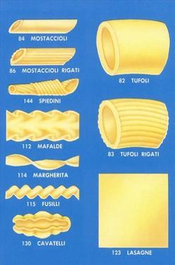 Varieties of Pasta by Found Image Press