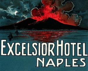 Vesuvius, Excelsior Hotel, Naples by Found Image Press