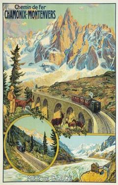 Vintage Travel Poster for Chamonix, France by Found Image Press