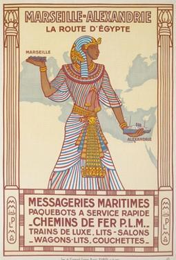 Vintage Travel Poster with Pharaoh by Found Image Press