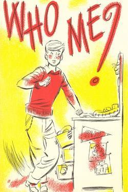 Who Me? Cartoon Kid by Found Image Press