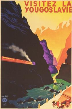 Yugoslavia Travel Poster by Found Image Press