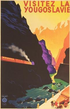 Yugoslavia Travel Poster by Found Image Press