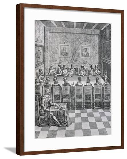 Foundation of Academie Francaise During Reign of Louis XIII, 1635, France--Framed Giclee Print