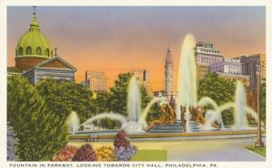 Fountain, City Hall, Philadelphia, Pennsylvania
