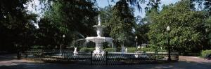 Fountain in a Park, Forsyth Park, Savannah, Chatham County, Georgia, USA