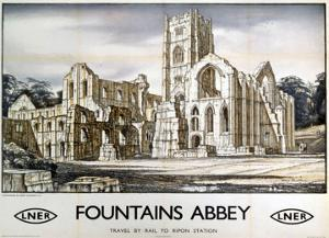 Fountains Abbey, LNER, c.1932