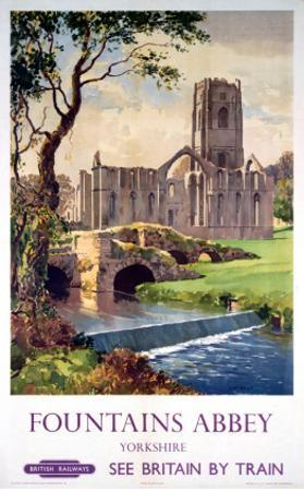 Fountains Abbey, Yorkshire, BR (NER), c.1956