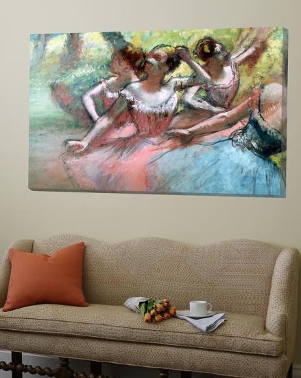 Four Ballerinas on the Stage-Edgar Degas-Loft Art
