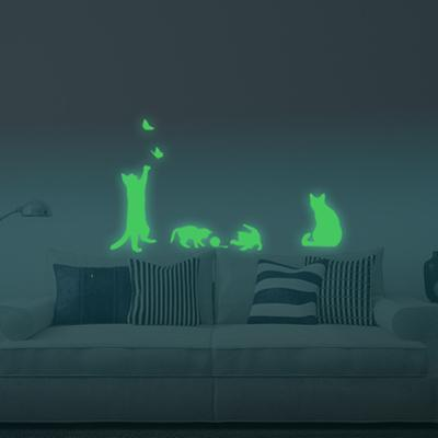 Four Cats Glowing