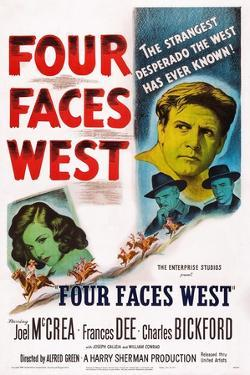 Four Faces West, from Left: Frances Dee, Charles Bickford, Joel Mccrea, Joseph Calleia, 1948