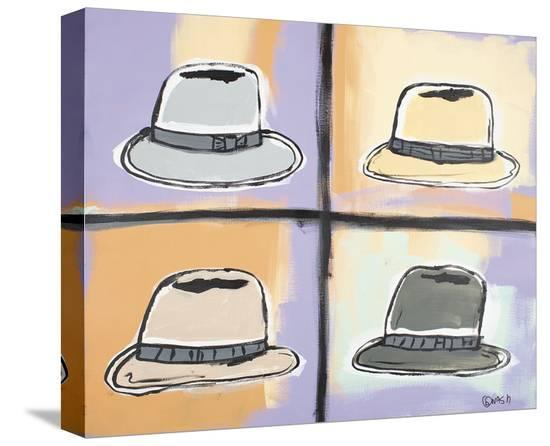 Four Hats-Brian Nash-Stretched Canvas Print