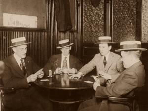 Four Men Playing Cards