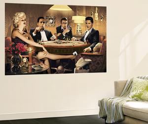Four of a Kind Marilyn Monroe James Dean Elvis Presley Humphrey Bogart Mural